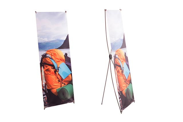 bedrucktes X Banner Display